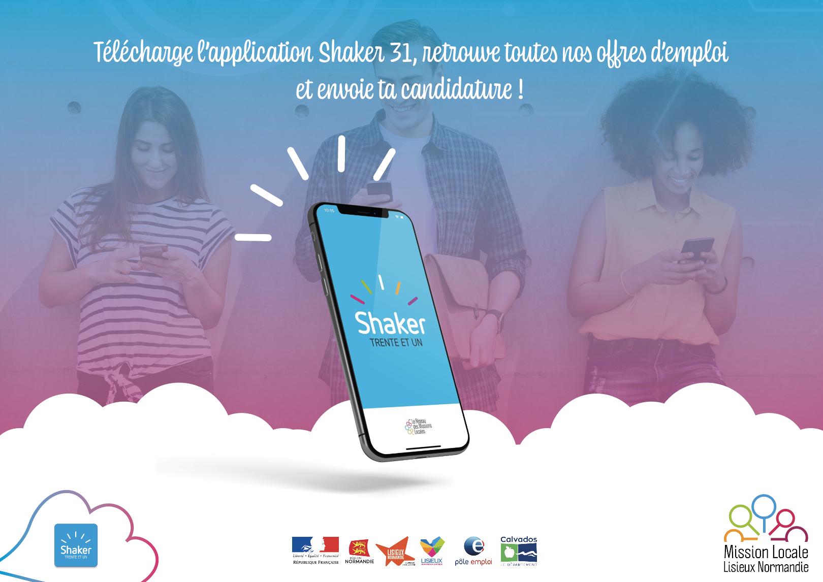 Application Shaker31, retrouve toutes nos offres d'emploi et envoie ta candidature.