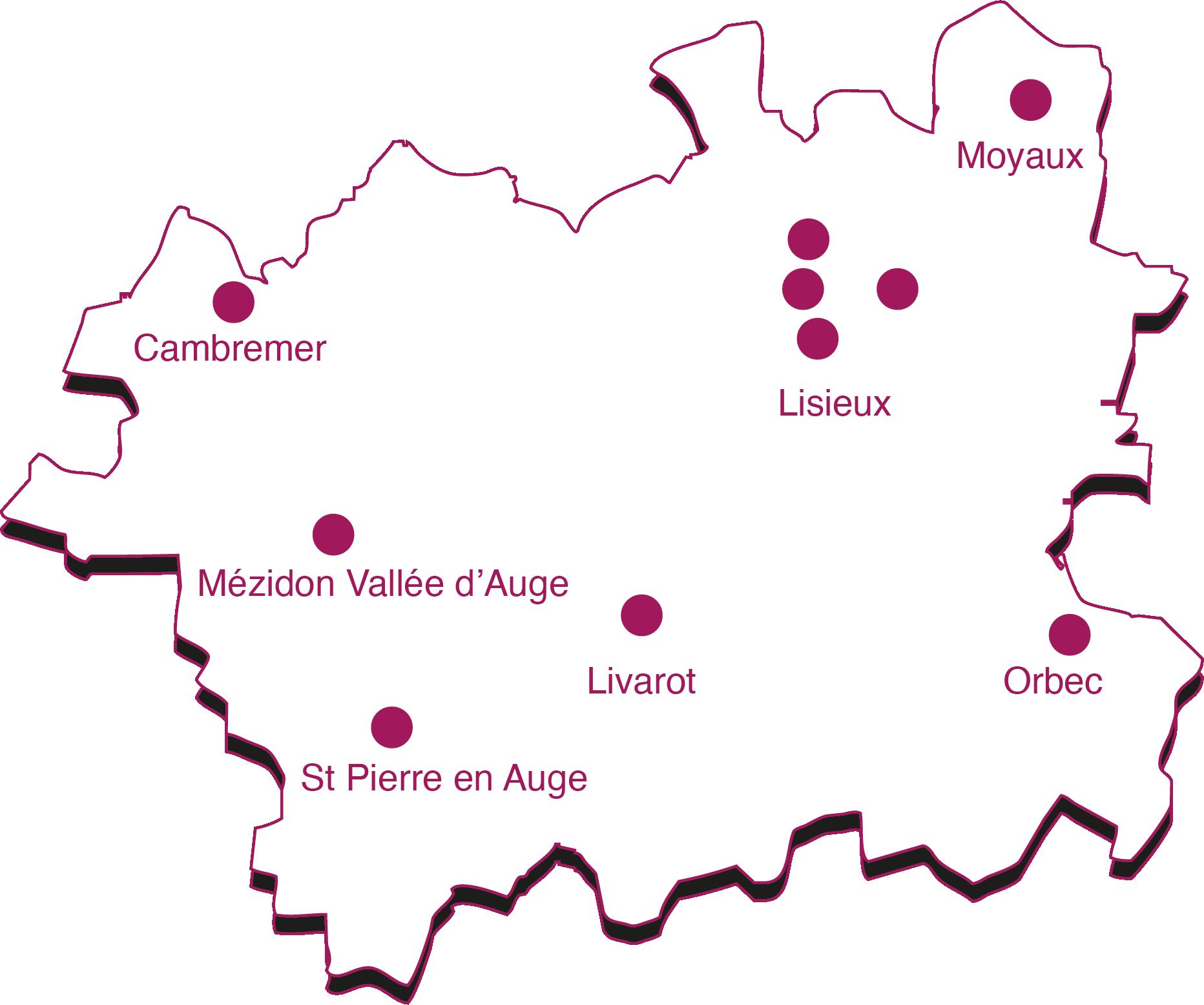 Cartes Missions Locales Lisieux Normandie